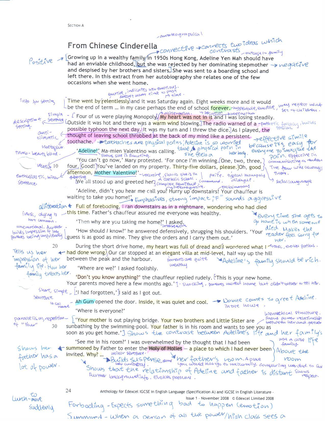 summary of cinderella essay